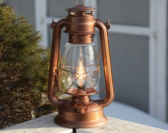 Electric Lantern Table Lamp BRONZE LANTERN BROWN Electric