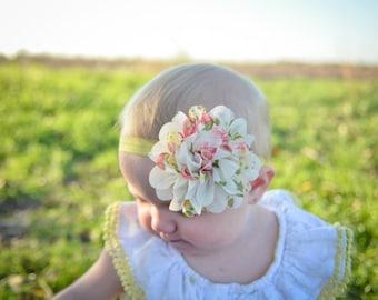 Baby Headbands.Flower Headband.Baby Girl Headband.Chiffon Baby Headband.Infant Headband.Newborn Headband.Shabby Chic Headband.Baby Bows