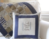God Bless Our Home Pillow