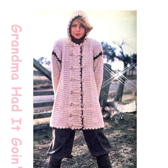 Womens Knitted Hooded Sweater Pattern by GrandmaHadItGoinOn