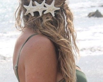 Knobby Trio Barrette, Starfish Hair Clip, Mermaid Accessory, Beach Wedding