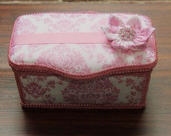 Always Pink Large Boutique Wipe Case/Bridesmaid Gift Travel Make Up Case/Bathroom Storage