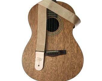 "Tan Lightweight Poly Guitar Strap - 2"""