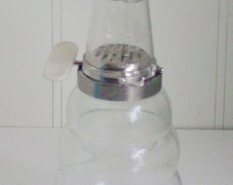 Vintage Clear Glass Beehive Nut Grinder