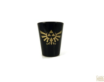Hylian Crest, Triforce, The Legend of Zelda, Shot Glass, Geeky Glassware, Gaming keepsake, Gifts for Geeks, Nerd Crafts, Gifts for men, Geek