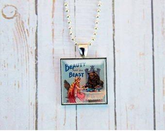 """Shop """"beauty and the beast jewelry"""" in Necklaces"""