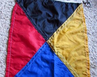 "Vintage ZULU Nautical Signal Flag, Nylon 15x21"""
