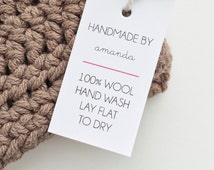 Etsy Shop Labels. Handmade Tags. Care Tags. Handmade With Love Tags. Knitting Crochet Labels. Etsy Product Tags. Custom Product Labels