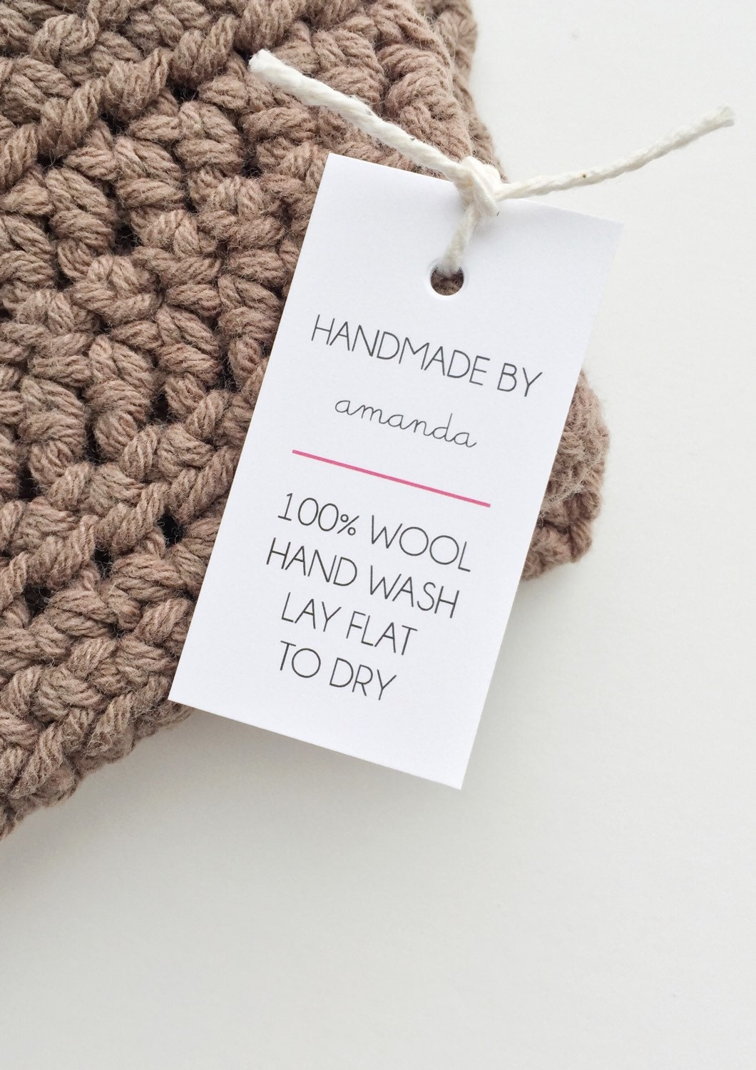 Knitting Labels Canada : Etsy shop labels handmade tags care with