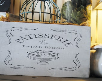French Patisserie Kitchen Sign Shabby Chic/French Country Hand Painted
