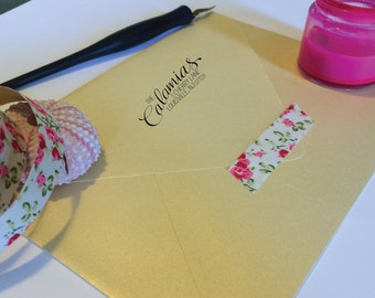 Jenni Handwritten Address Stamp, Self Inking or Rubber Stamp