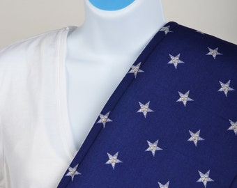 Burp Cloth - Blue with White/Gold Stars
