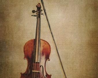 Old violin fine art photography violin musical instrument for Violin decorating ideas