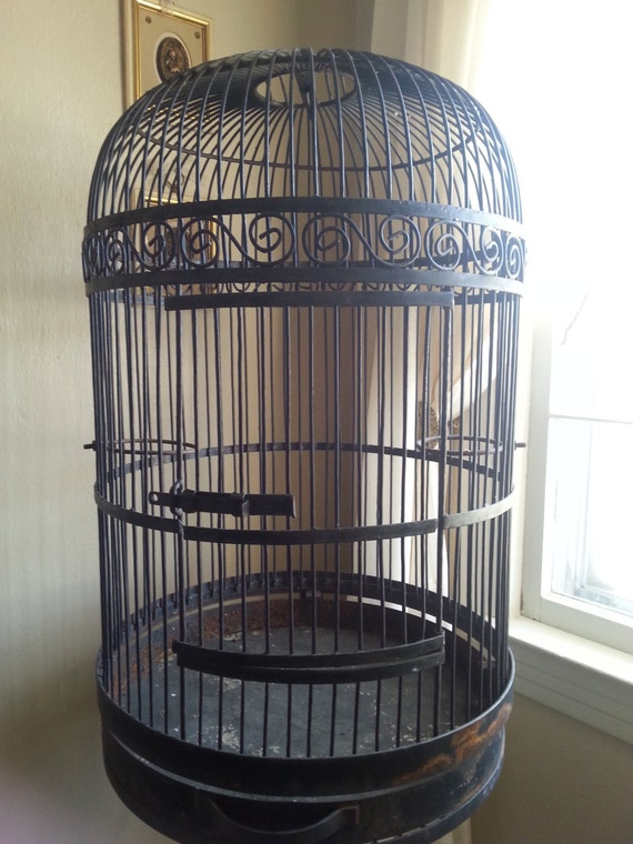 Items Similar To Wrought Iron Bird Cage Metal Bird House