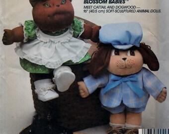Soft Sculptured Animal Dolls - UNCUT McCall's 9257