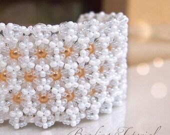 DIY jewelry making tutorial, Hexa bracelet, beading tutorial, triangle weave, craft supply