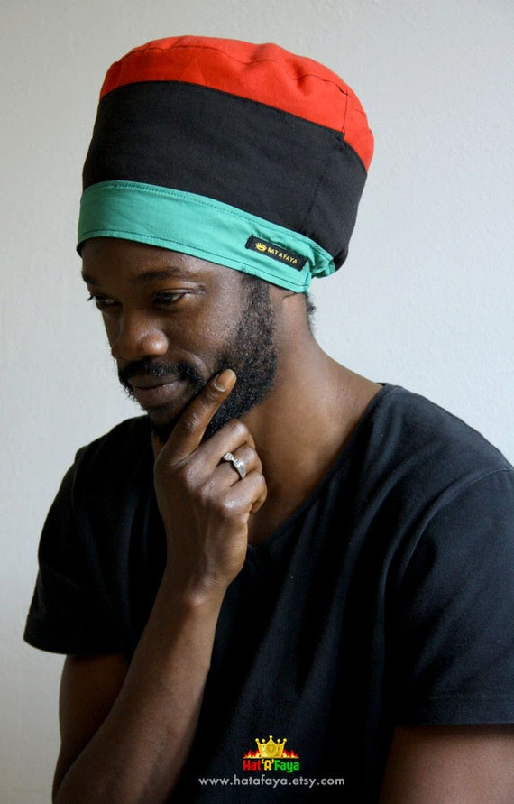MARKUS Colorblock Tam RBG Summer Rasta Crown Hat for Dreadlock Hats For Men