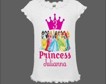 Disney Princess Birthday Shirt - Disney Princess Summer Dress