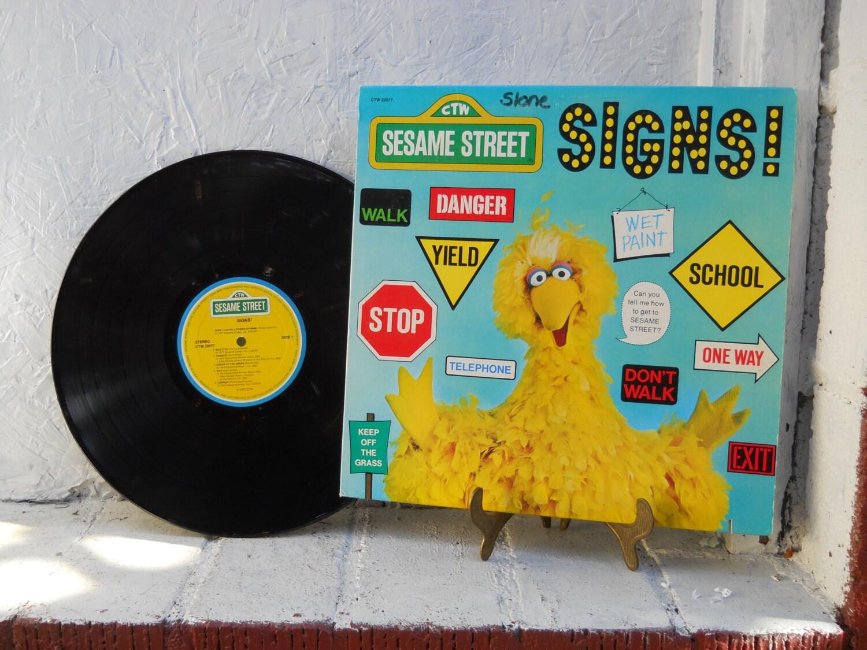 Sesame Street Album Signs Vinyl Record Album Lp 33 1 3