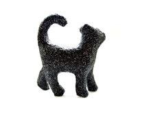 Black Glittered Cat - 3D Glitter Cat, Table Centerpiece, Party Centerpiece, Birthday Party, Wedding decor, Cat Decor