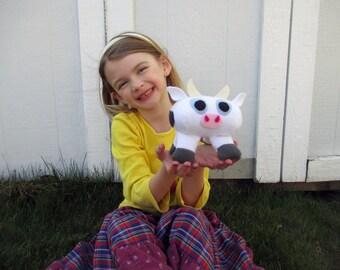 Fleece Moo Cow Plush/Farm Stuffed Animal Toy