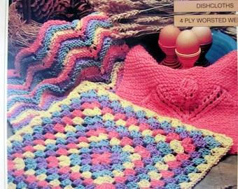 Bernat Handicrafter Dishcloths To Knit and Crochet , Dishcloth Patterns