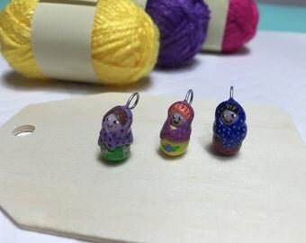 matryoshka pendants, russian dolls