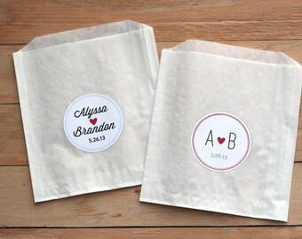 50 Custom Treat Bags Favor Candy Buffet Paper Wedding
