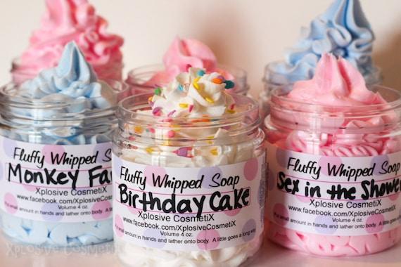 Fluffy Whipped Soap - Birthday Cake 4 oz. Vegan