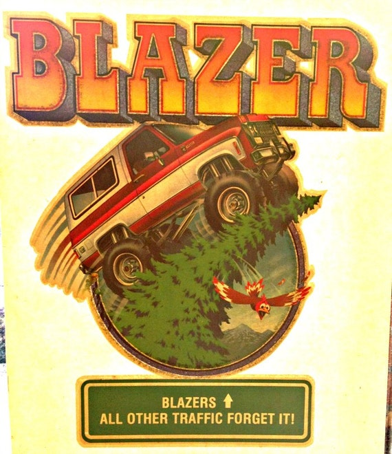 Items similar to chevy blazer 4x4 vintage 70s t shirt iron for 70 s t shirt transfers