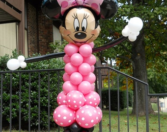 TWO Minnie Mouse balloon character party decorations