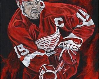 Detroit Red Wings Steve Yzerman Giclee Prints