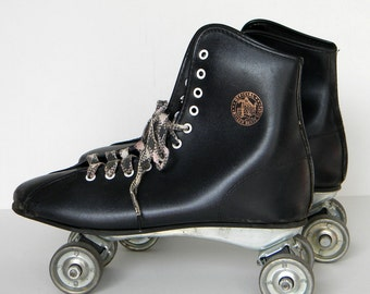 Roller Derby Skates with Metal Wheels Vintage