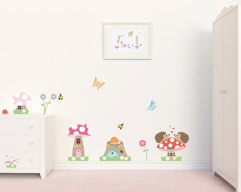 Nursery Wall Decals, Nursery Decor, Toadstool Wall Decals, Wall Stickers, Wall Graphics, Girls Wall Art