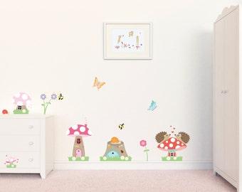Nursery Wall Decals, Nursery Decor, Toadstool Wall Decals, Wall Stickers, Wall Graphics, Girls Wall Art