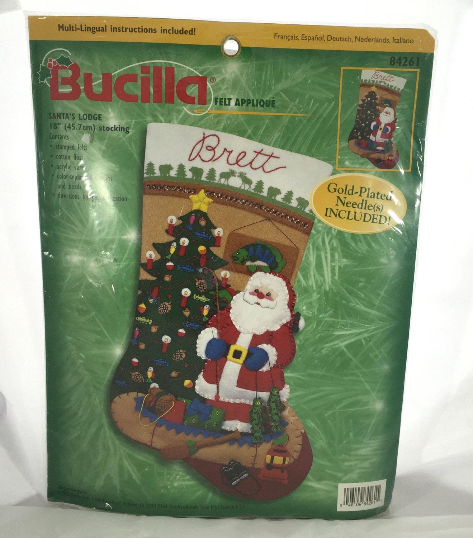 On Sale Bucilla Felt Christmas Stocking Kit Santas Lodge