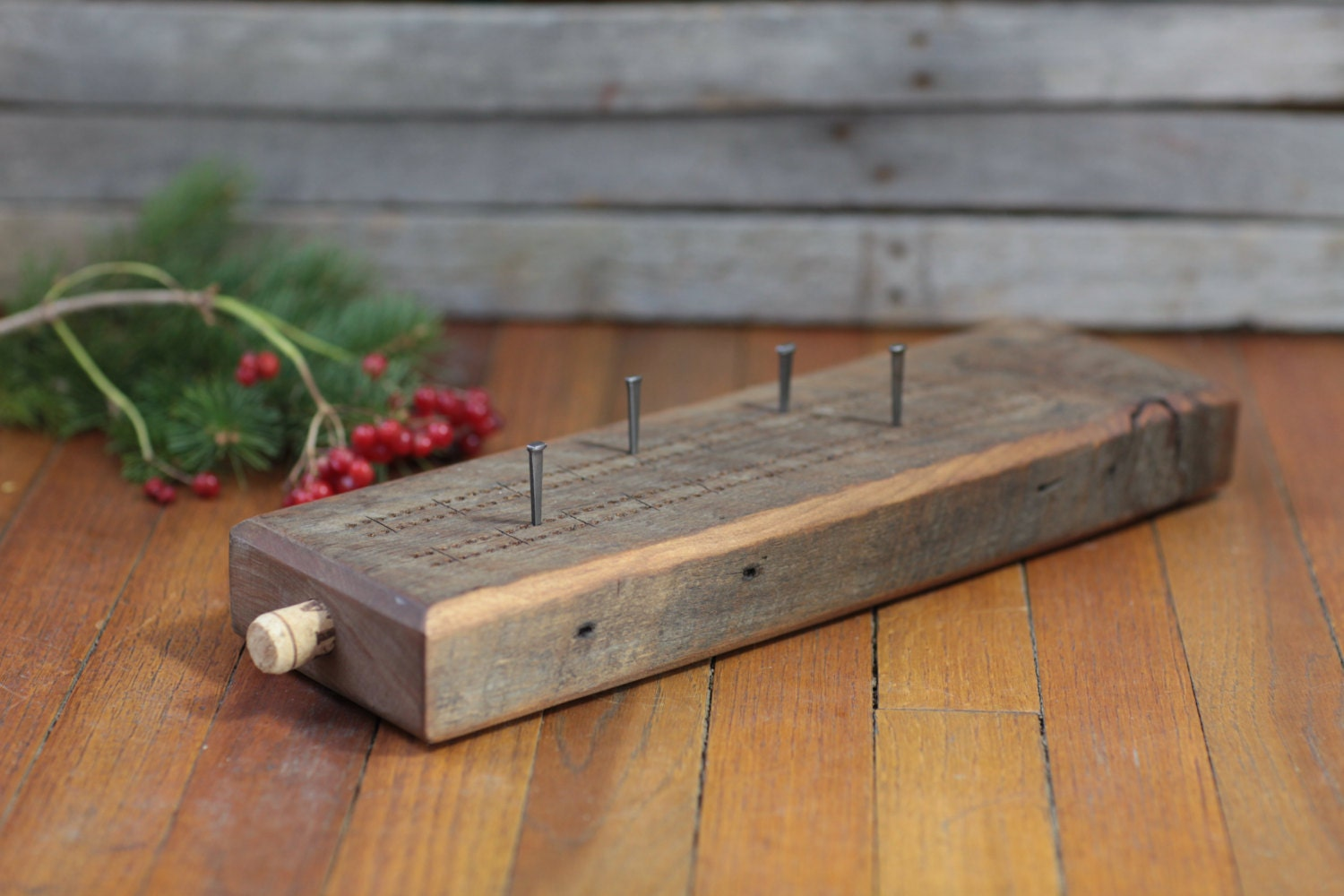 Crib boards for sale uk - Cribbage Board Reclaimed Barn Wood Oil Rubbed Option To Have Woodburned