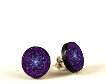 Orion - handmade stud earrings - decoupage, Orion Jewelry, Hypoallergenic Earrings for Sensitive Ears