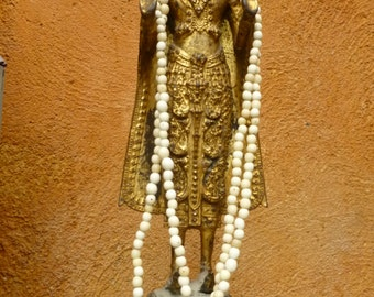 White Ivory Achira or Achuy Palm Small Seeds.1 Strand, 280 seeds aprox.Natural Seeds.5mm. Ethnic Jewelry Seeds- Beads