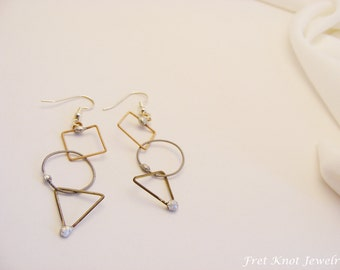 Guitar String Earrings (Shapes, Geometry, Recycled)