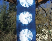Indigo Shibori Wall Hanging or Table Runner