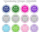 Personalized Sibling Iron On Transfers - Printable Sibling Iron On Transfers - You choose combination