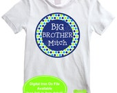 Personalized Big Brother Iron On - Sibling Shirt Iron On - Sibling Iron On - New Baby Iron On - Polka Dot Iron On