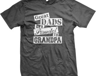 Great Dad's Get Promoted To Grandpa Men's T-shirt, Grandfather Father's Day Shirt, Grandpa Father's Day TShirts - GH_02078_tee
