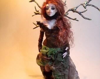 Forest Goddess // Fairy , Sculpture Ooak, Handmade by Mari Carmen García
