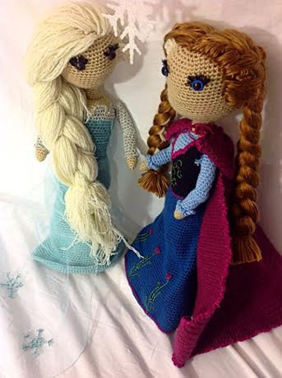 Crochet Elsa Doll Pattern : Elsa and Anna Frozen Crochet PATTERN