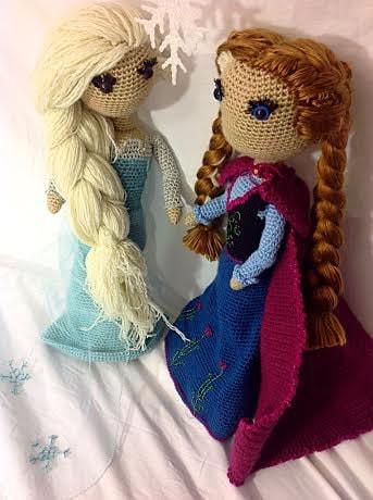 Crochet Frozen Doll : Elsa and Anna Frozen Crochet PATTERN