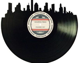 Detroit Skyline Records Redone Label Vinyl Record Art Unique
