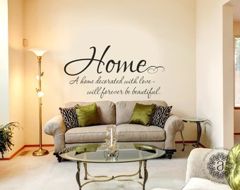 Unique Home Decor Inspirational Quotes by AmandasDesignDecals