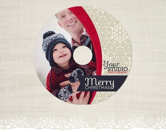 Christmas CD/DVD Label - Photography CD Label Template -CD08